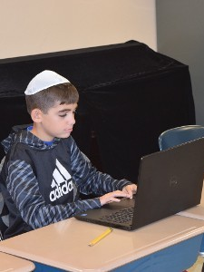 Young Man Learning Hebrew