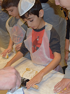 Making Hamantashen - Rolling Dough